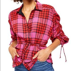 NEW! FREE PEOPLE PLAID TOP!
